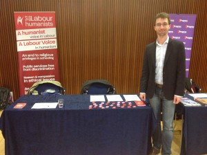 Our Secretary Adam Harrison sets up our stand