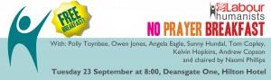 No Prayer Breakfast Poster